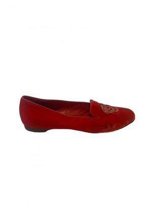 Alexander McQueen Red Velvet Flats