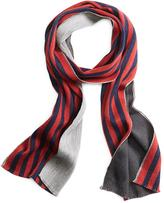 Brooks Brothers Double-Faced Stripe Scarf