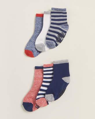 Capelli New York (Newborn/Infant Boys) 6-Pack Multi-Pattern Crew Socks