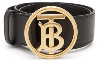 Burberry Tb-buckle Leather Belt - Black