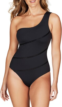 Sea Level One-Shoulder One-Piece Swimsuit