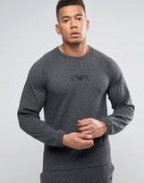 Emporio Armani Sweatshirt In Quilted Cotton