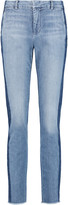 Vince Two-tone mid-rise straight-leg jeans