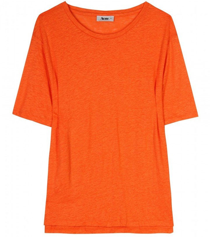 Acne WONDER LINEN T-SHIRT