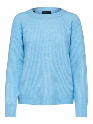 Selected Women's SLFSTAR LS Knit Rib X-MAS O-Neck B Sweater