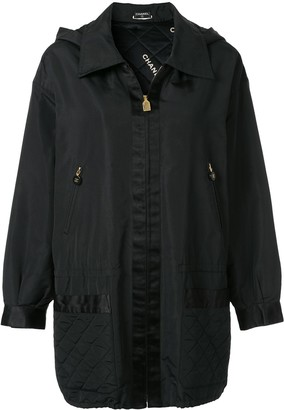 Chanel Pre Owned Hooded Lightweight Jacket