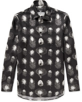 Alexander McQueen Printed Silk-twill Shirt - Black