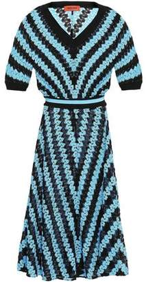 Missoni Striped Crochet-knit Midi Dress