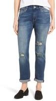 Mavi Jeans Women's Brenda Ripped Slim Ankle Boyfriend Jeans