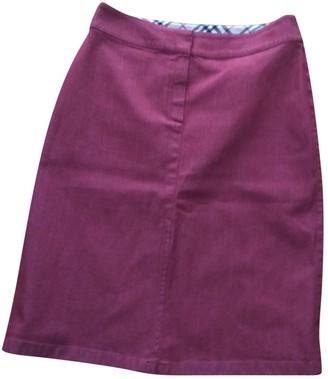 Burberry Red Cotton - elasthane Skirt for Women