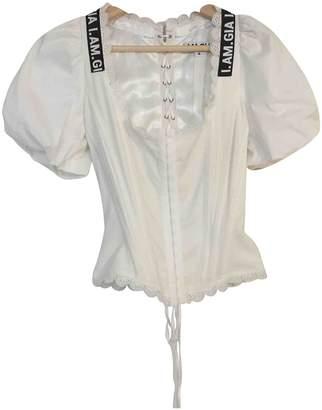 I.AM.GIA White Polyester Tops