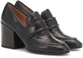Dries Van Noten Embossed-leather loafers