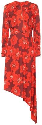Dodo Bar Or Asymmetric floral midi dress