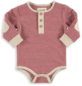 Me & Henry Baby Boy's Striped Henley Bodysuit