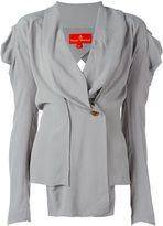 Vivienne Westwood V-neck draped buttoned blouse
