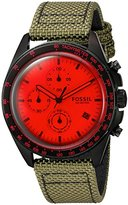 Fossil Mens CH3064 Sport 54 Chronograph Olive Nylon Watch