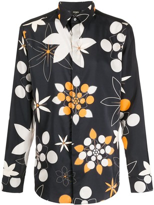 Fendi Kaleido print silk shirt
