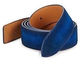Corthay Men's Classic Suede Buckle Belt Strap