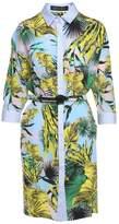 Versace Beverly Palm-print Silk-crepe Shirt Dress