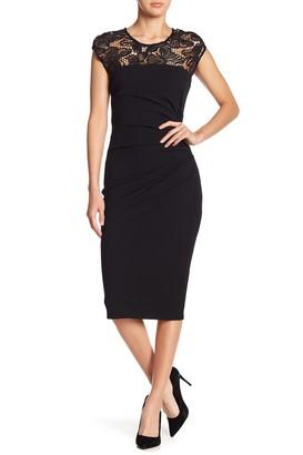 Hale Bob Lace Short Sleeve Dress