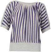 Izabel London *Izabel London Grey Striped Batwing Top