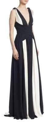 Murad Zuhair Draped Silk Georgette Gown