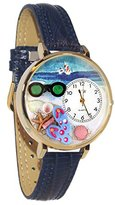 Whimsical Watches Women's G-1210015 Flip-flops Dark Blue Leather Watch