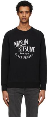 MAISON KITSUNÉ Black Palais Royal Sweatshirt
