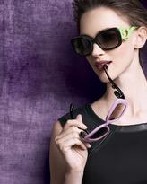 Prada Baroque Colorful Sunglasses, Black/Neon Green