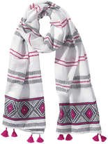 Joe Fresh Women's Pattern Scarf, Dark Pink (Size O/S)