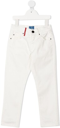 Fay Kids Mid-Rise Slim-Fit Jeans