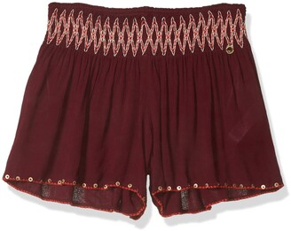 OndadeMar Women's Solid Embroidered Shorts
