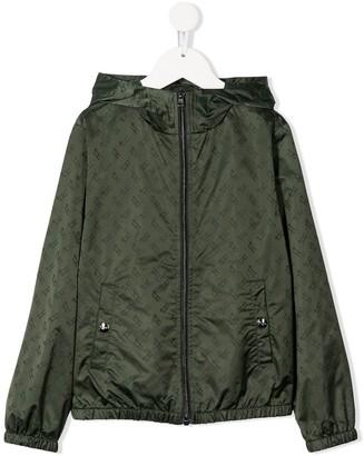 Herno Monogram Print Raincoat