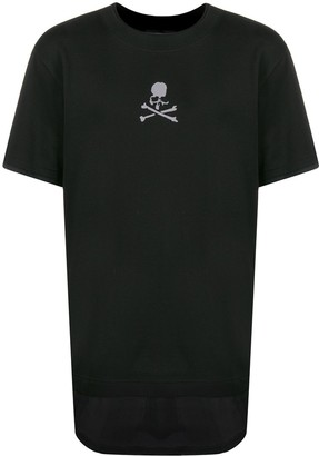 Mastermind Japan layered hem longline T-shirt