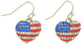 mimis Mimi's Gift Gallery Patriotic Heart Earrings