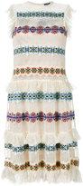 Alexander McQueen sheer embroidered dress - women - Silk/Nylon/Spandex/Elastane/Viscose - M