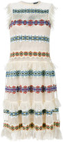 Alexander McQueen sheer embroidered dress - women - Silk/Nylon/Spandex/Elastane/Viscose - S