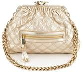 Marc by Marc Jacobs Marc Jacobs Gold Baby Stam Leather Handbag (Pre Owned)