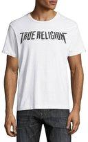 True Religion Logo & Skull-Print Short-Sleeve Graphic T-Shirt, White