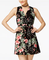 Teeze Me Juniors' Floral-Print Fit and Flare Dress