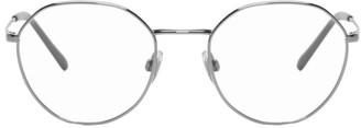 Dolce & Gabbana Gunmetal Metal Round Glasses