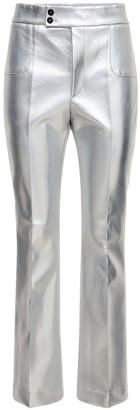 Philosophy di Lorenzo Serafini Metallic Faux Leather Flared Pants