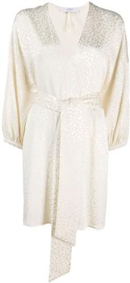 Roseanna jacquard v-neck dress