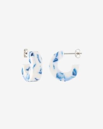 Express Machete Light Blue Muse Hoop Earrings