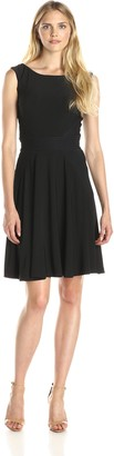 Julian Taylor Women's Sleeveless Flare Dress with Waist Inset