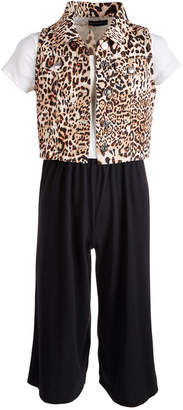 Sequin Hearts Big Girls 2-Pc. Animal-Print Vest & Jumpsuit Set