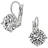 Bliss Cubic Zirconia & Sterling Silver Lever-Back Earrings