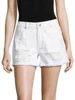 Rachel Roy Boyfriend Frayed Hem Denim Short