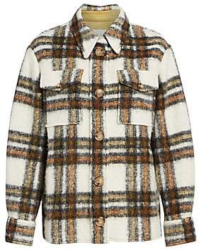 Etoile Isabel Marant Women's Gaston Plaid Blanket Coat