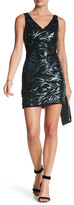 Trixxi Sleeveless Sequin & Mesh Tank Dress
